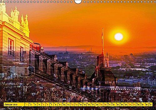 Karlsruhe mal 2 (Wandkalender 2019 DIN A3 quer): Faszinierende Doppelbelichtungen Karlsruher Highlights (Monatskalender, 14 Seiten ) (CALVENDO Orte)