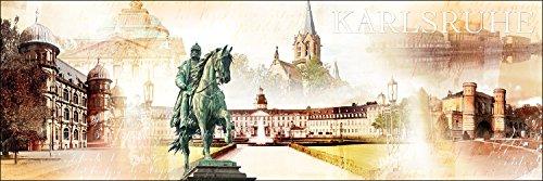 Pro-Art g1381f Wandbild Giclée 'Karlsruhe' 180 x 60 cm